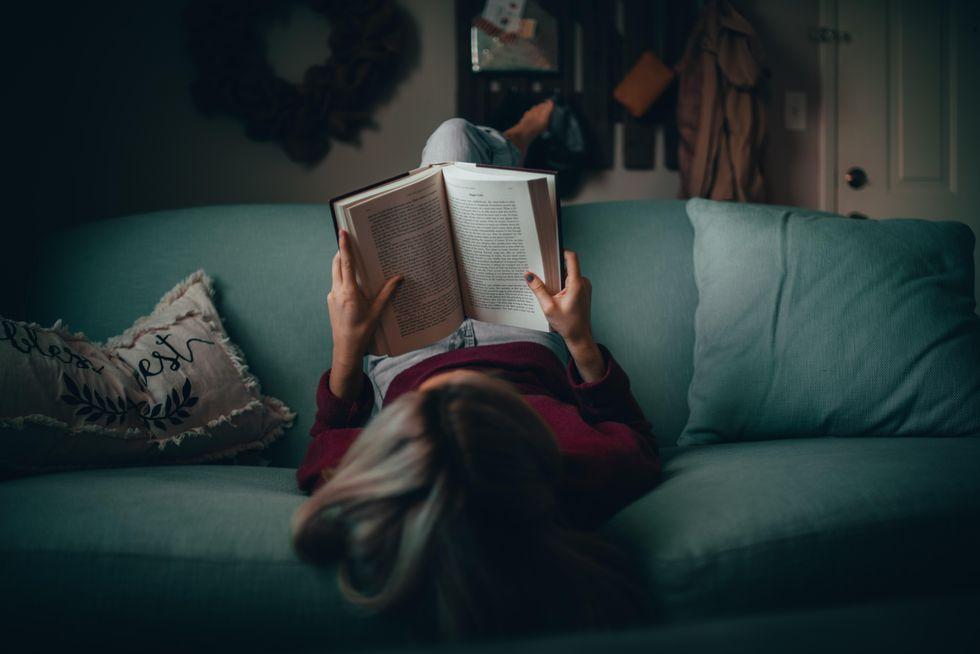 Photo of girl reading