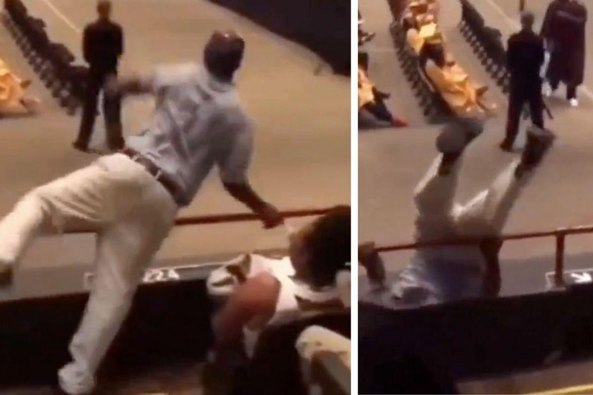 Dad delights crowd with a literally over-the-top celebration at his kid's graduation