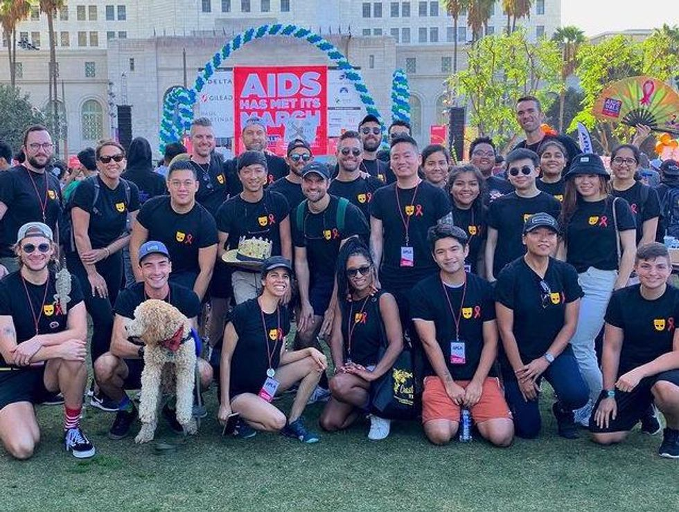Grindr employees participate in the 2019 AIDS Walk Los Angeles.