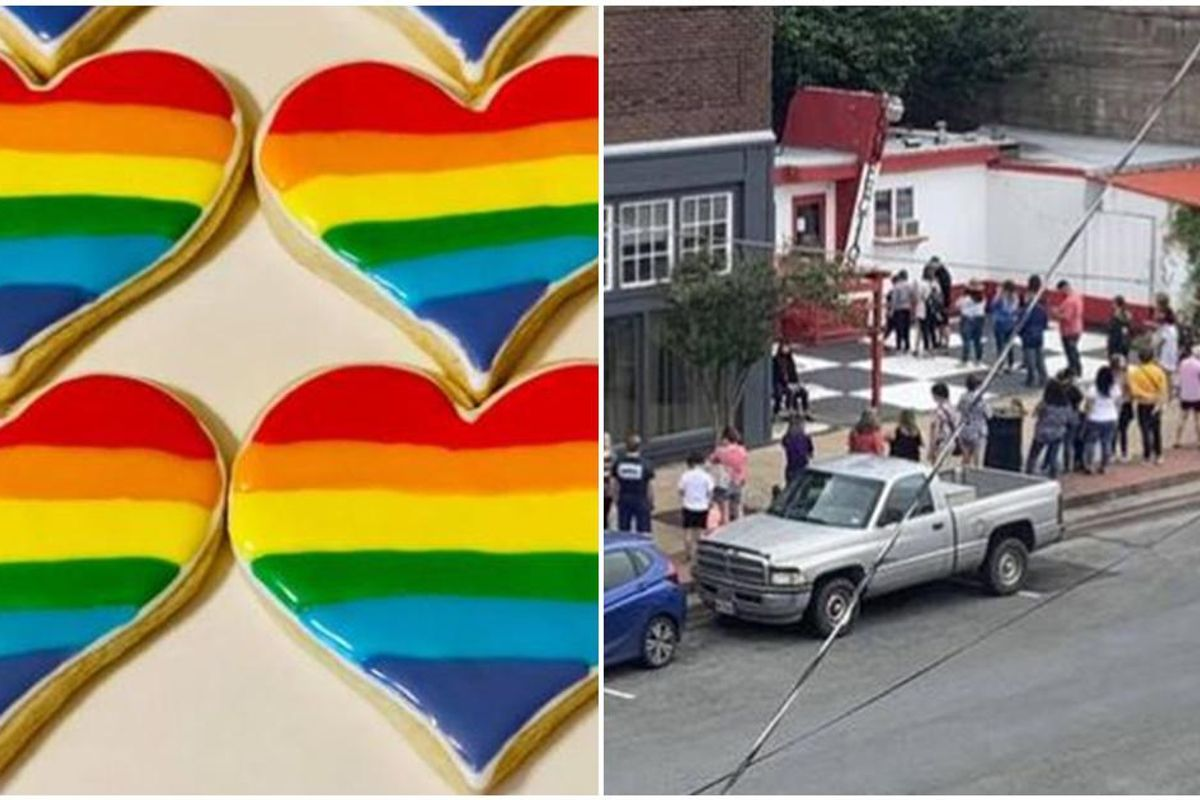 A Texas bakery faced a backlash for its Pride-themed cookies. But then the allies showed up.