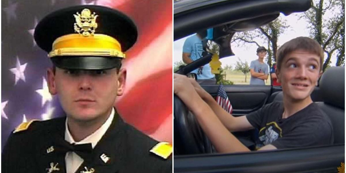 An Iraq war widow tracked down her husband's car to give it to her son for his birthday
