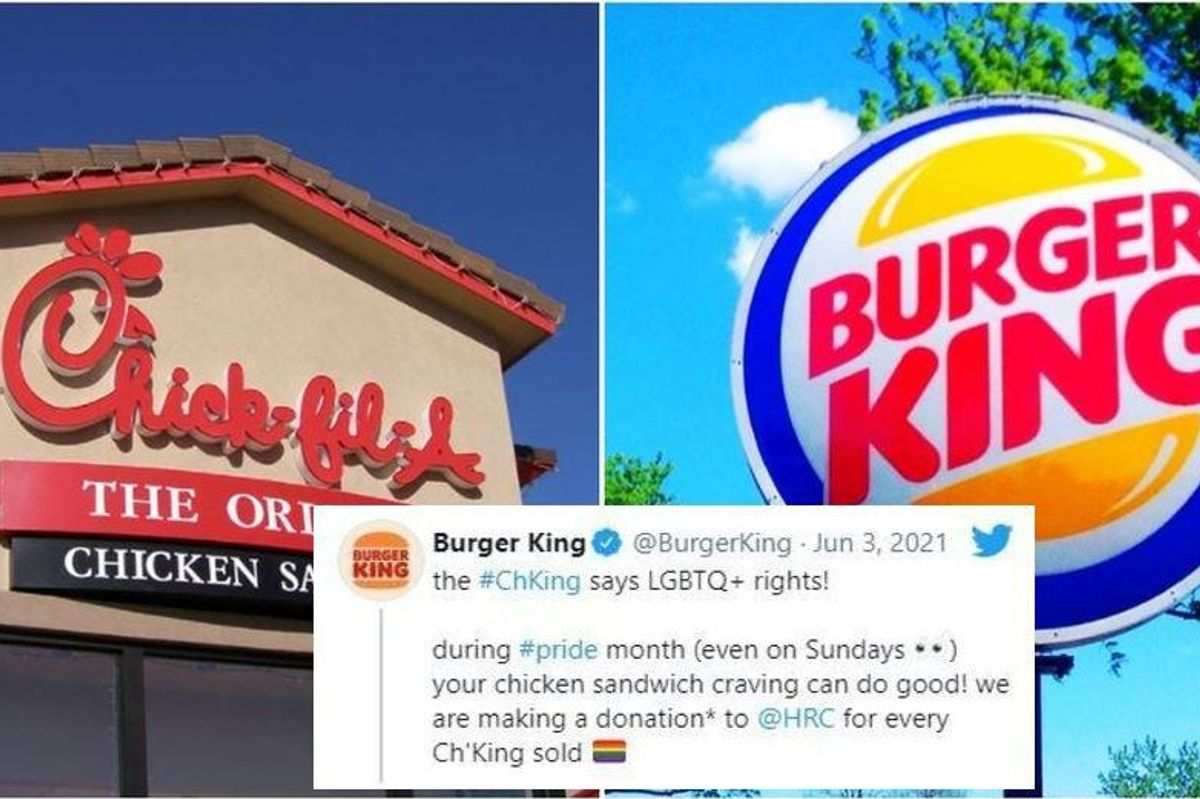 Burger King zings Chick-fil-A by donating its chicken sandwich profits to LGBTQ group