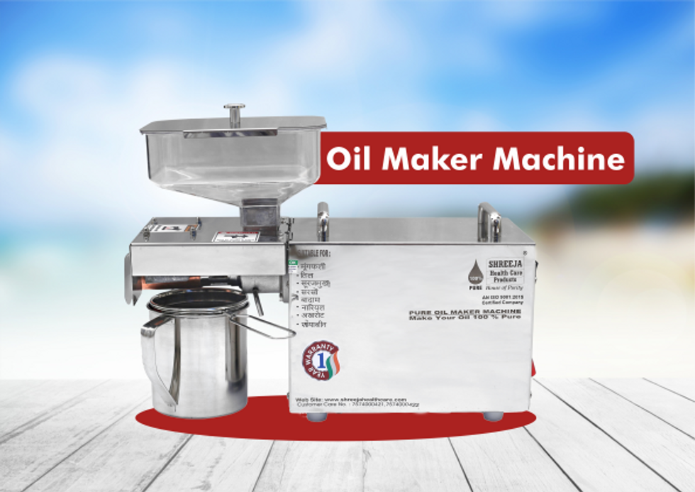 Best oil maker machine for home cooking-Healthiest Cooking oil