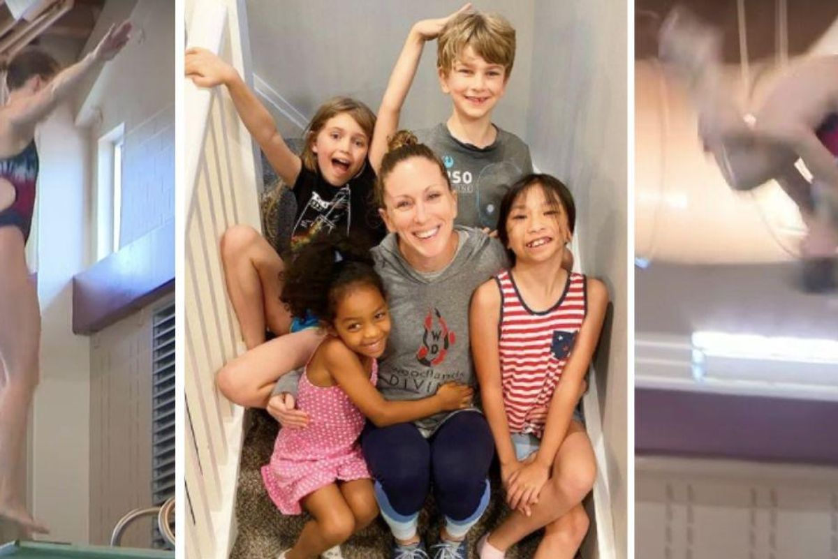 43-year-old mother of 4 just qualified for the U.S. Olympic diving qualifying finals