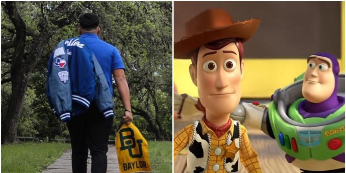 'So long, partner': Mom recreates iconic 'Toy Story' scene to send her son off to college