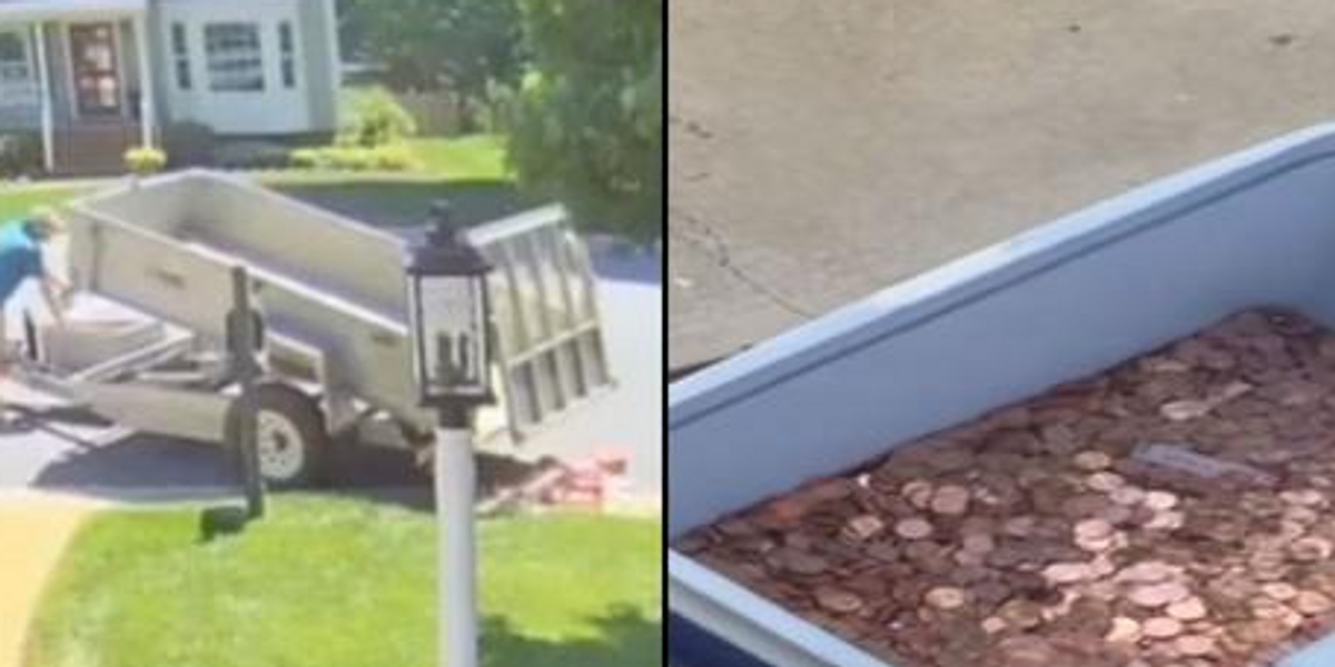Man Pays Child Support by Dumping 80,000 Coins on His Ex's Garden