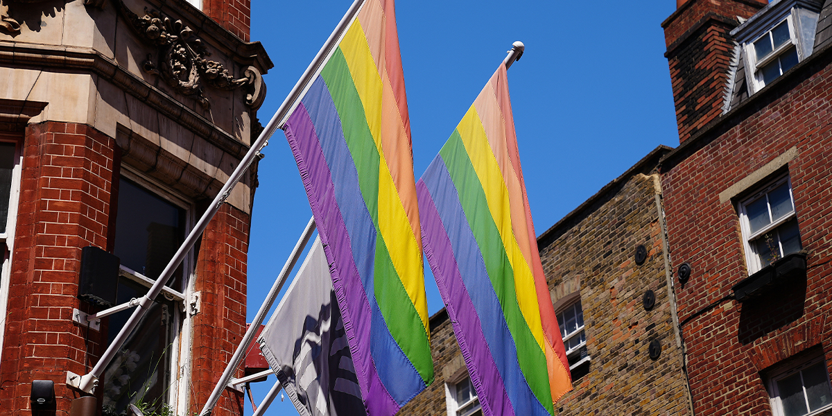 Gay Couple Bypass Flag Rules by Lighting Home in Pride Rainbow Floodlights