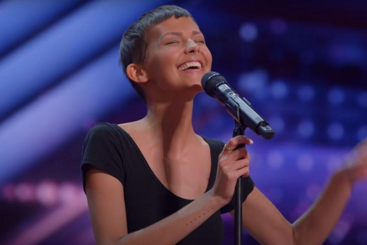Woman with only a 2 percent chance to live amazes America's Got Talent with performance