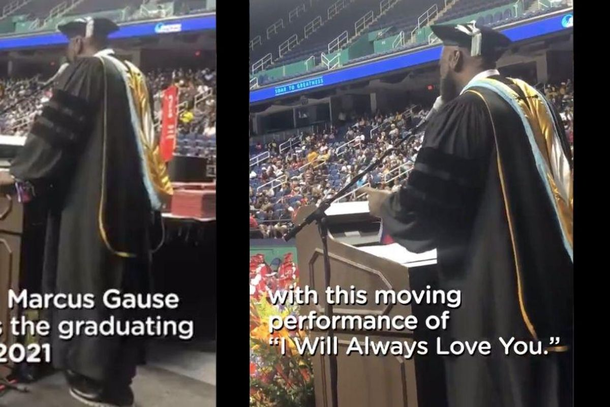 North Carolina principal wows with rendition of 'I Will Always Love You' to outgoing seniors