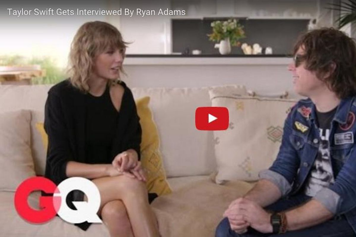 Watch Cool Guy Ryan Adams Wear Sunglasses Indoors (While Interviewing Taylor Swift)