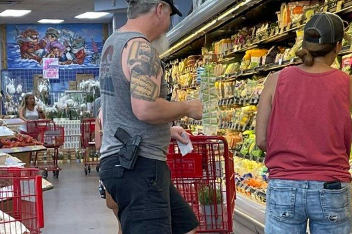 People parading guns through grocery stores does not make them, or America, great