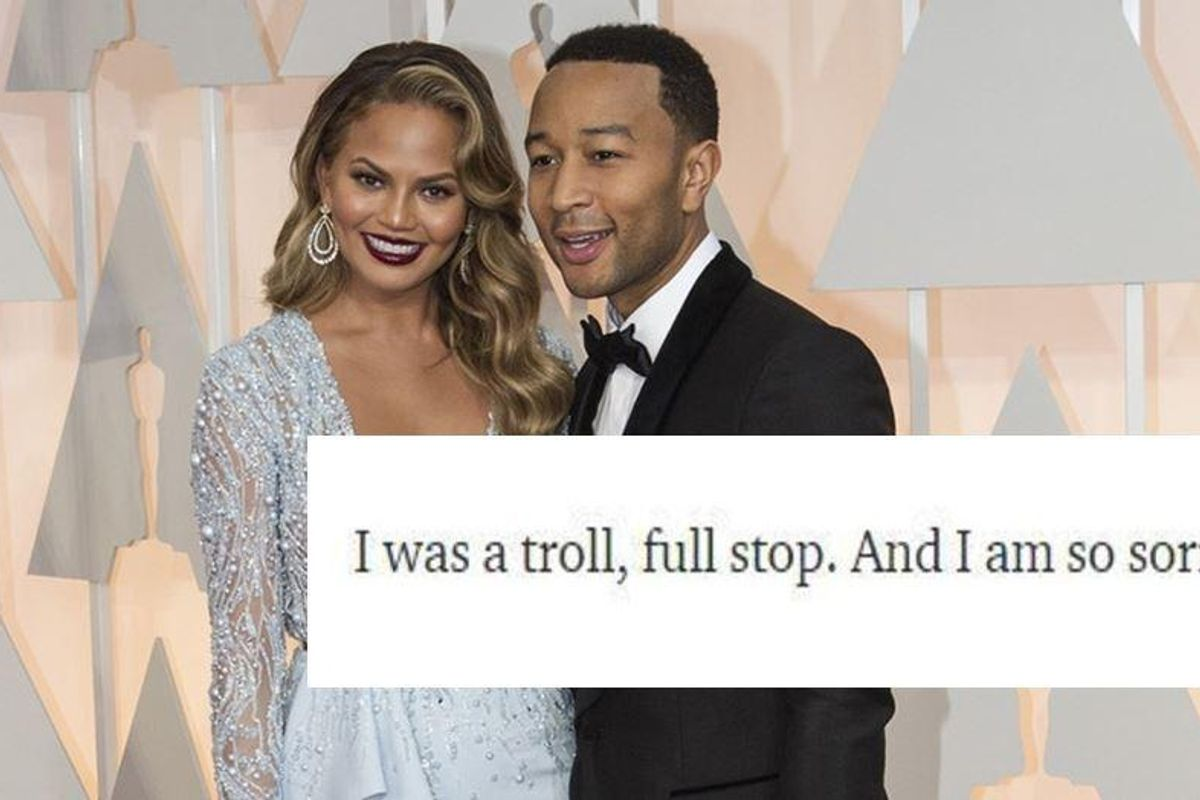 Chrissy Teigen's artful and genuine apology letter is a master class on second chances