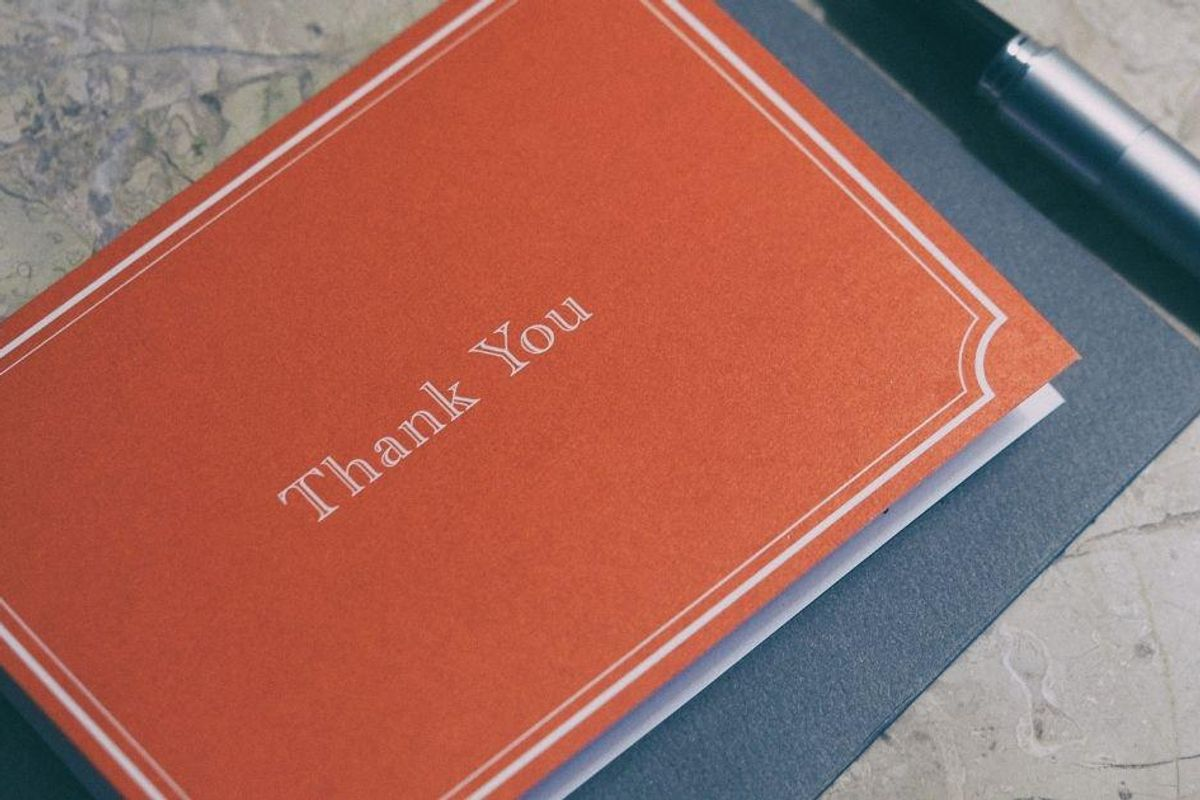 Want to start an intriguing debate? Ask for people's thoughts on handwritten thank you notes