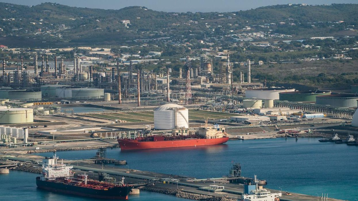 An aerial view of the Limetree Bay refinery in St. Croix, Virgin Islands.