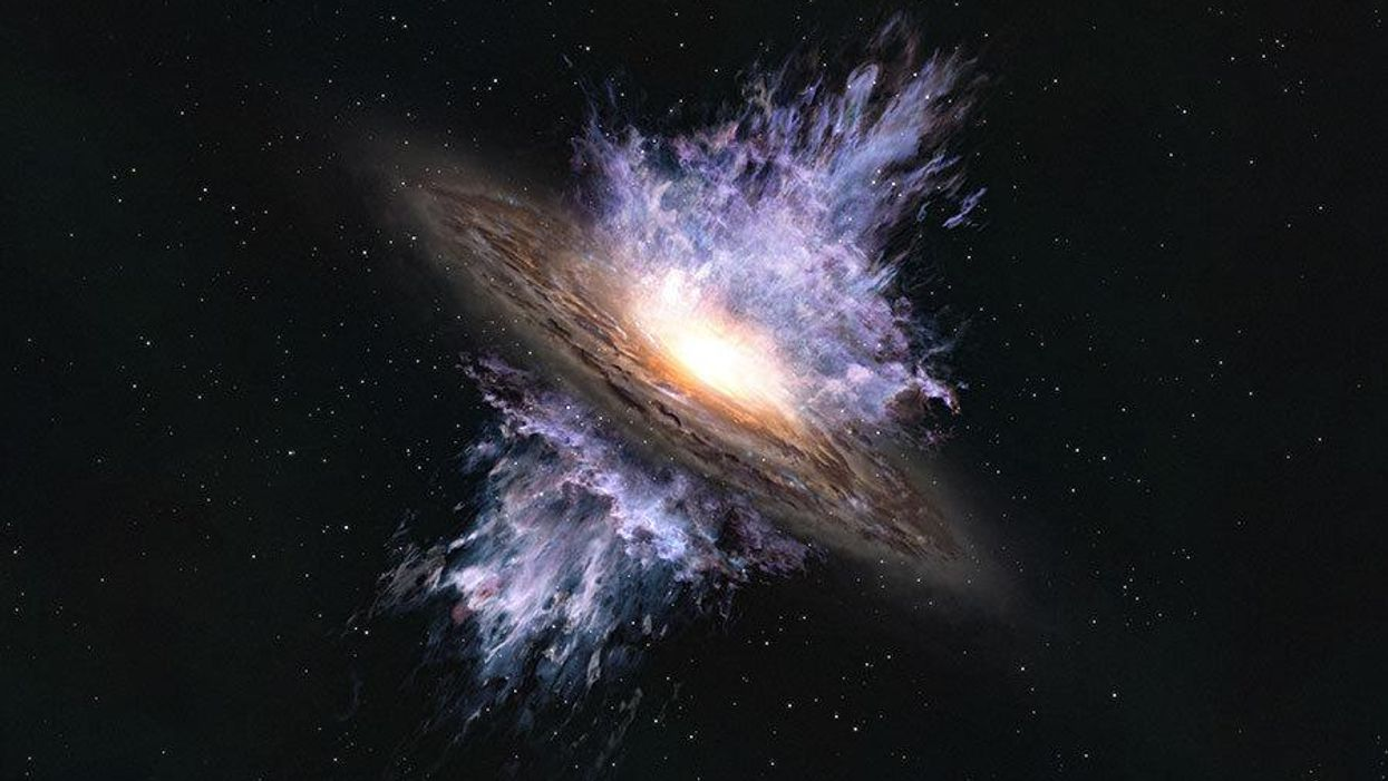 Galactic wind from early universe detected