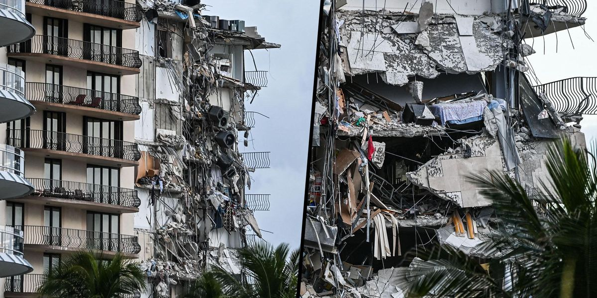 Twelve-Story Miami Beach Building Collapses Leaving at Least One Dead
