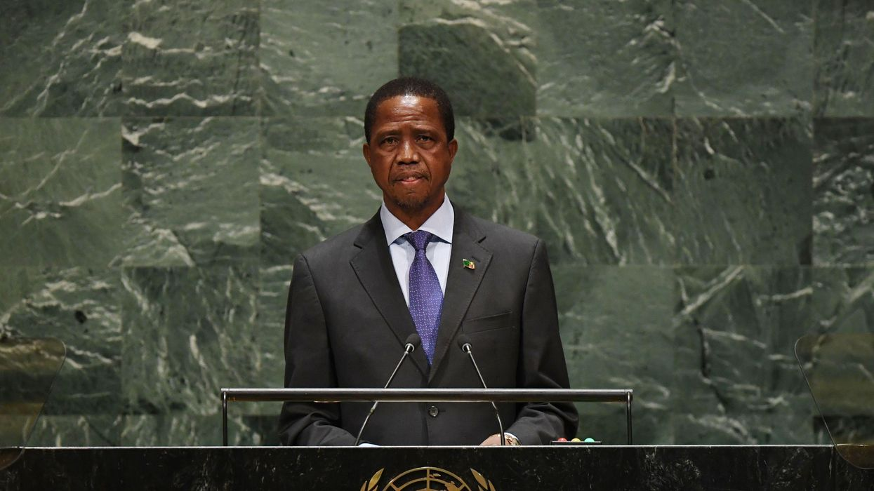 Zambian President Edgar Lungu Collapses During Televised Ceremony