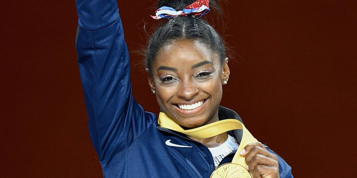 Simone Biles Looks Stunning In Red, White, and Blue on the Cover on 'Glamour Magazine'