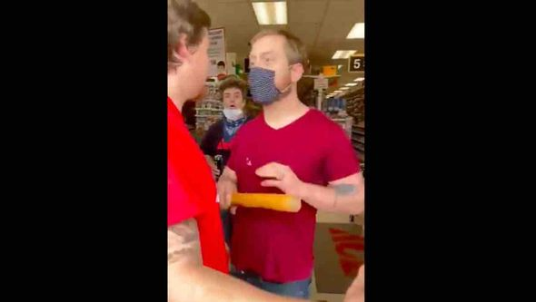 Unhinged hardware store worker shoves customer with bat, throws punches after COVID-19 mask dispute: 'That's not customer service'