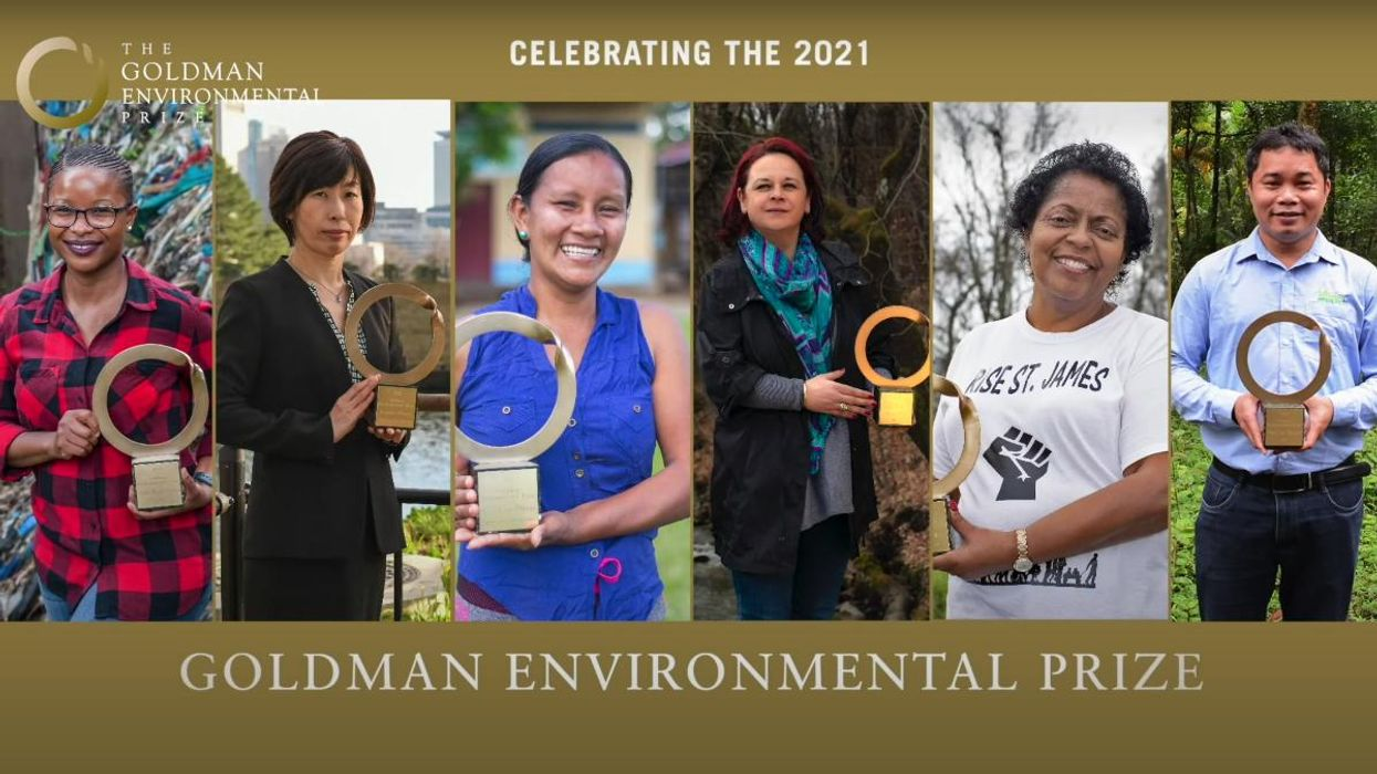 The Goldman Environmental Prize recognizes grassroots activists from six continents who have moved the needle on environmental issues their communities face.