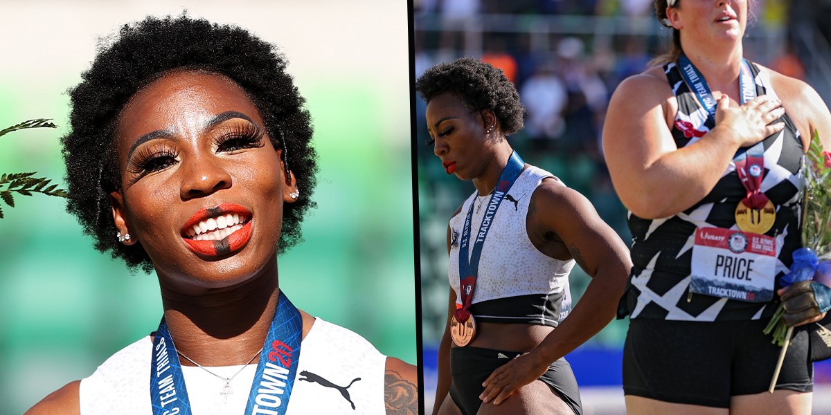 US Olympian Gwen Berry Snaps Back at Critics After Protesting National Anthem