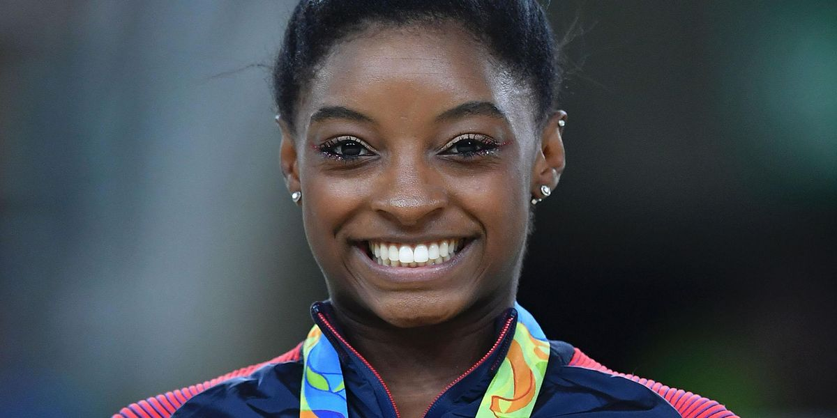 Simone Biles' Boyfriend Wore a Simone Biles T-Shirt To Cheer Her on at Olympic Trials