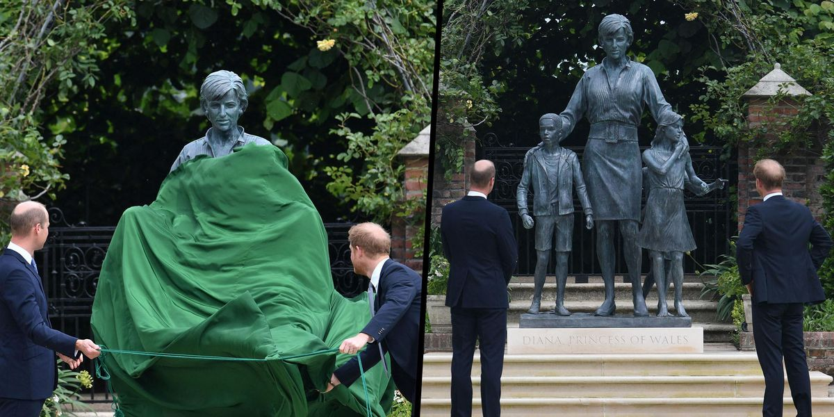 Prince William and Harry Unveil Statue of Princess Diana on Her 60th Birthday