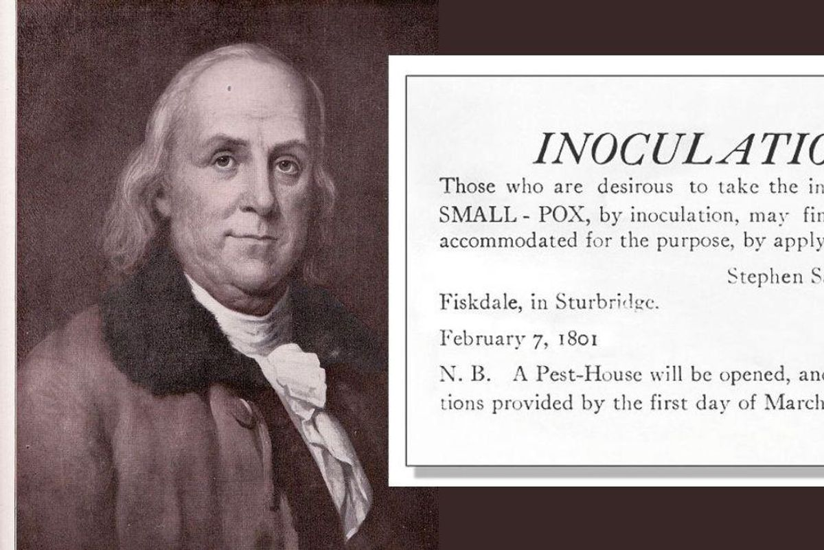 Benjamin Franklin had to deal with smallpox anti-vaxxers. We can learn from his approach.