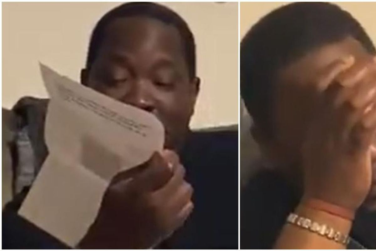 Lifelong football fan has wonderful reaction to daughter giving him tickets to first game