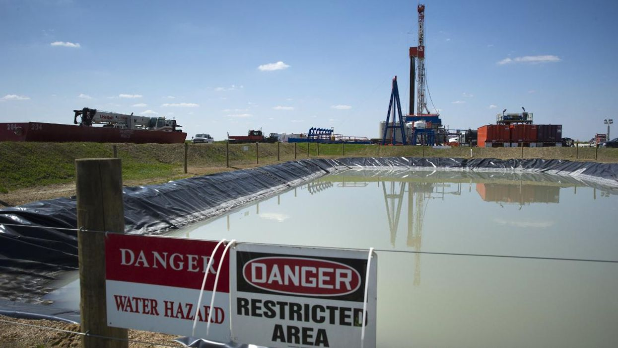 A fracking rig in the Marcellus Shale.