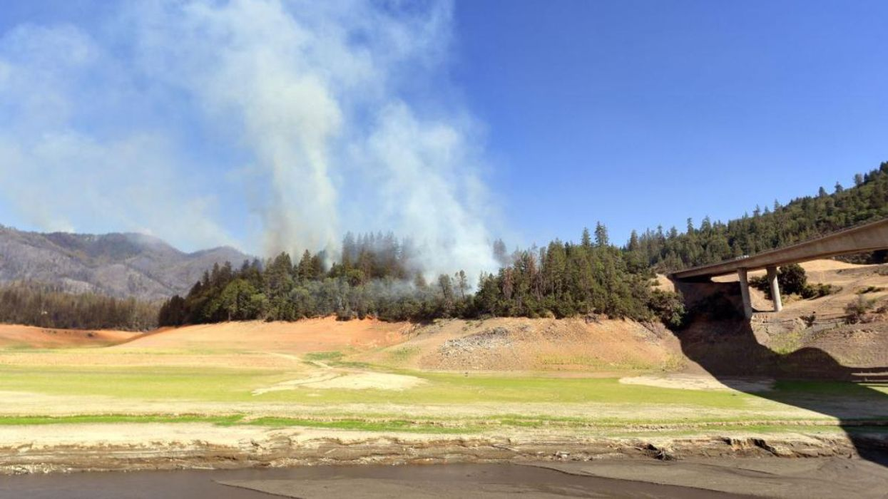 A wildfire in Lakehead, California on July 1, 2021.