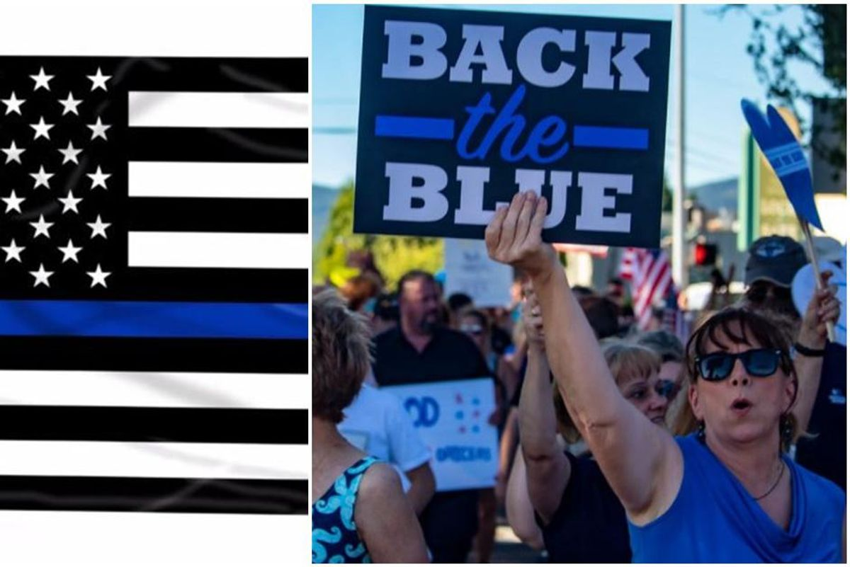 Utah teenager faces a year in prison for stomping on a 'Back the Blue' sign while smirking