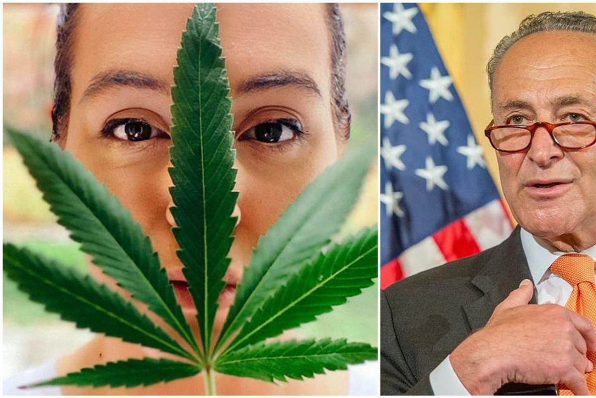 Senate Majority Leader Chuck Schumer's bold new proposal would decriminalize marijuana