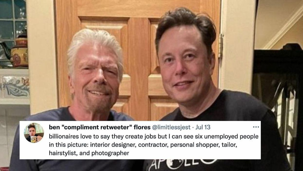 Viral Photo Of Richard Branson And Elon Musk Gets Roasted For Kitchen's Bizarre Design Choices