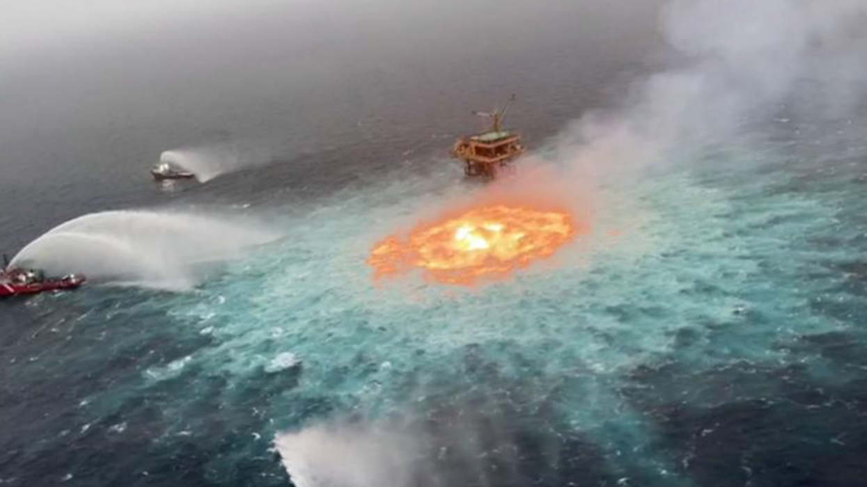 gulf of mexico on fire