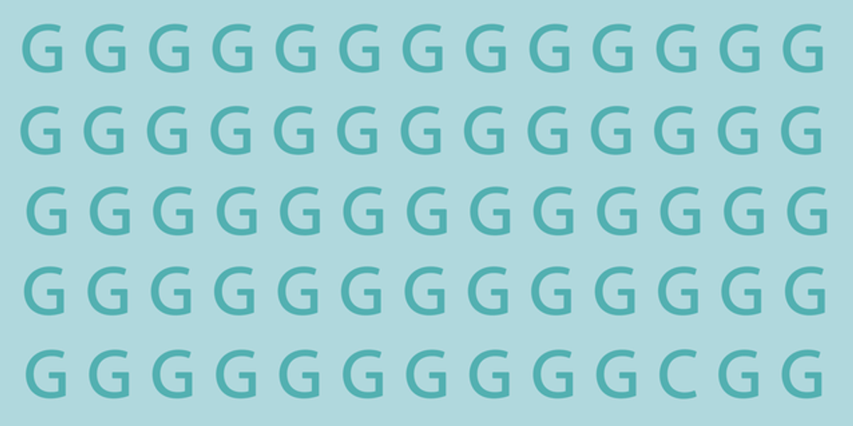 A Surprising Amount of People Can't Find the Different Letter in Less Than 10 Seconds