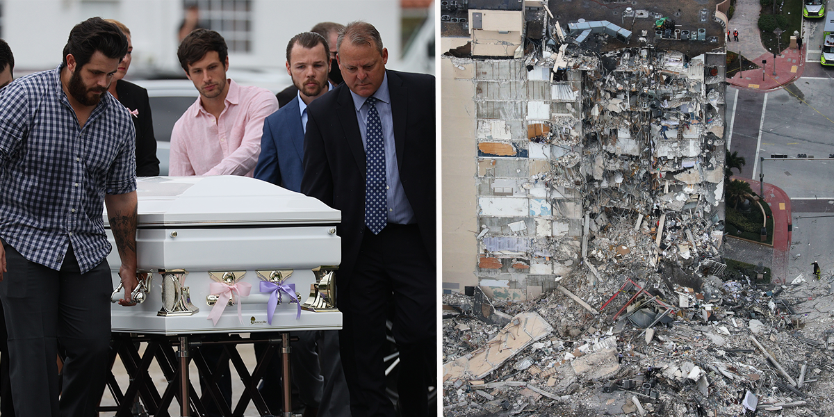 Young Sisters Killed in Florida Condo Collapse Are Buried in Same Coffin
