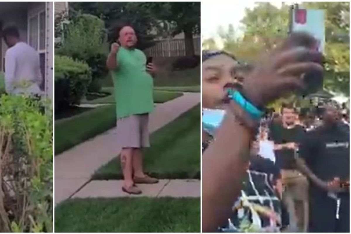 After racist tirade, a man challenged critics to show up at his house. Over 100 people did.