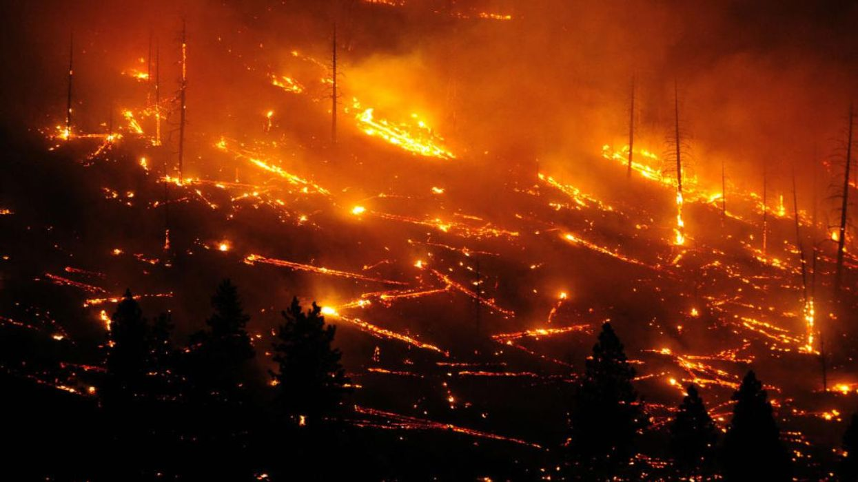 The Tennant Fire burning in California on July 4, 2021.