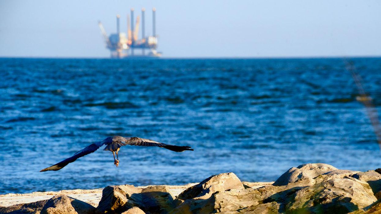 Flying Crane and Oil Rig