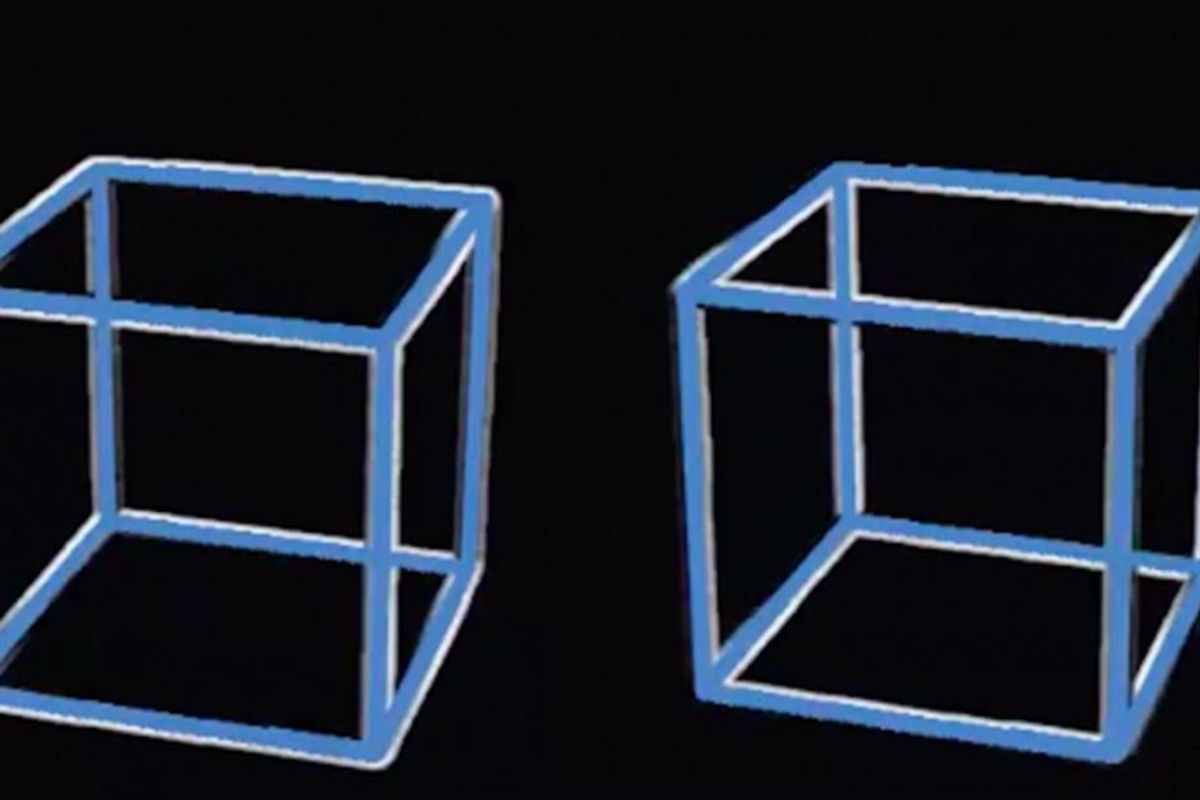 People are freaking out over this rotating cube illusion that'll make you question reality