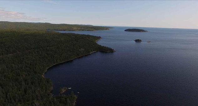 Lake Superior shoreline Great Lakes