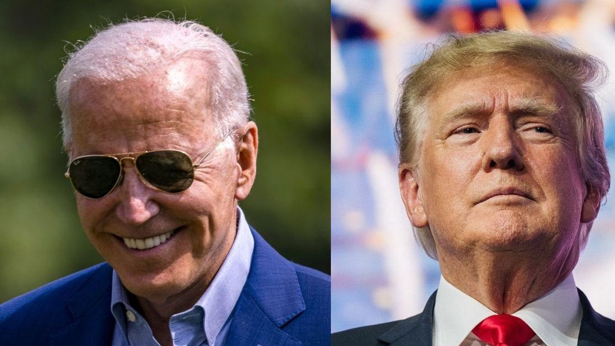 Biden Just Threw Some Serious Shade At Trump By Drinking A Glass Of Water With One Hand