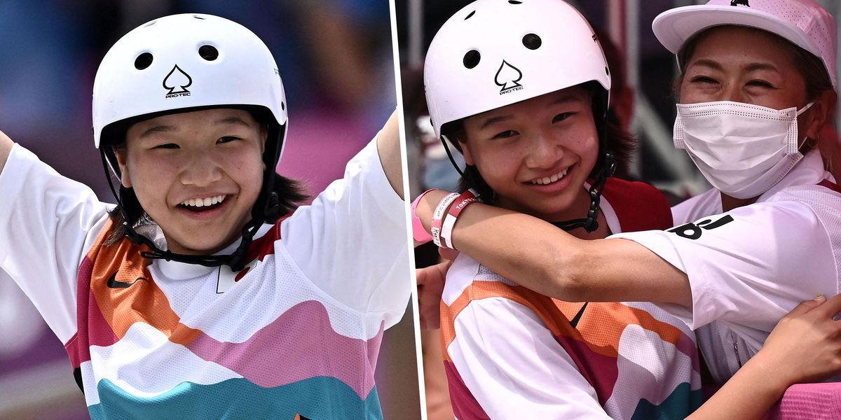 13-Year-Old Skateboarder Momiji Nishiya Becomes One of the Youngest Gold Medal Winners Ever