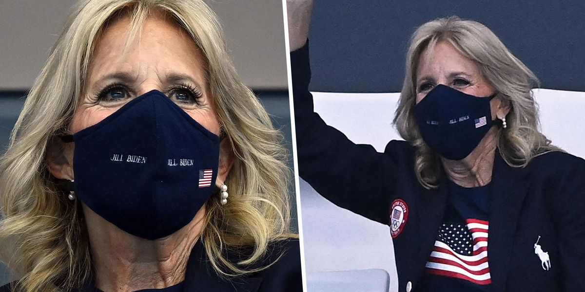 US Olympians Chant Dr. Jill Biden's Name as First Lady Cheers on Swimmers in Tokyo