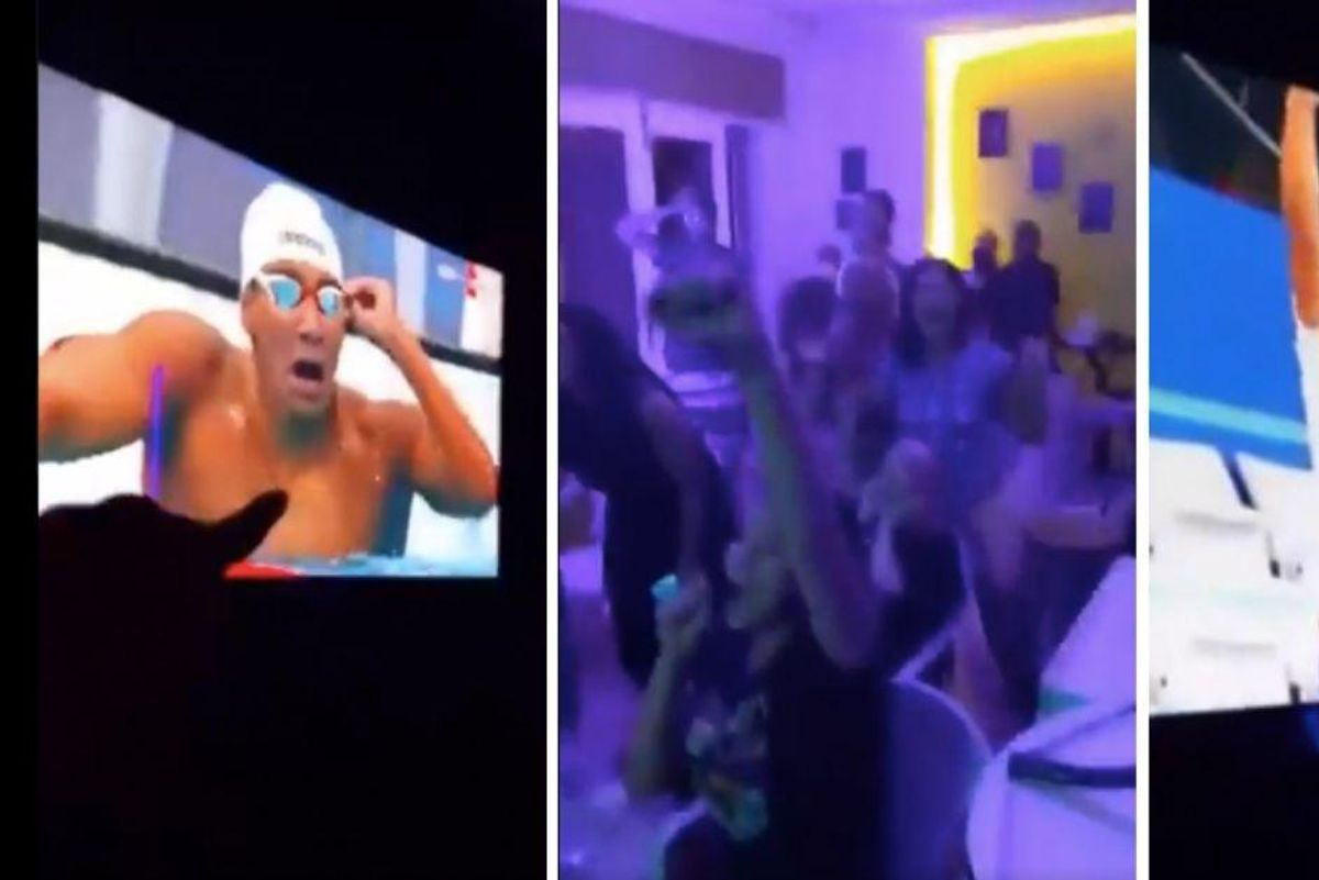 Tunisian teen swimmer shocks with surprise gold, and his family's reaction is everything