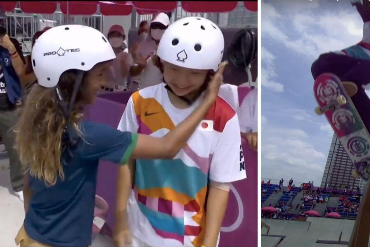 Okay, so skateboarding is officially an awesome addition to the Olympics