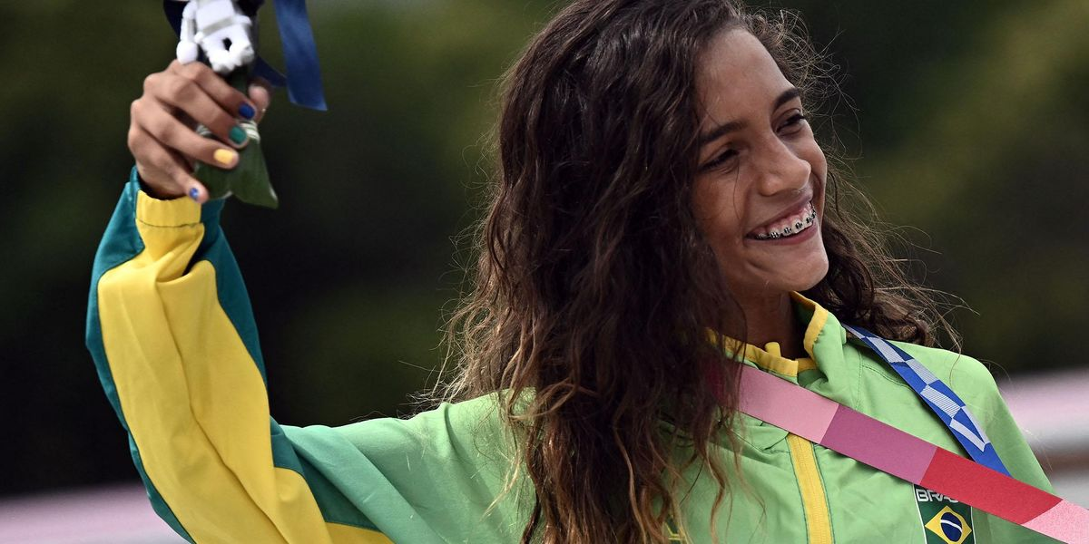 Aged 7, Rayssa Leal Went Viral for Skateboarding in a Fairy Princess Dress and Now She's Won an Olympic Medal