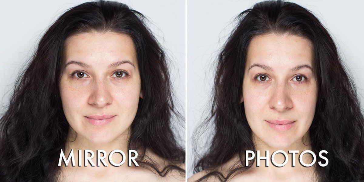 Here's why you look better in mirrors than you do in pictures