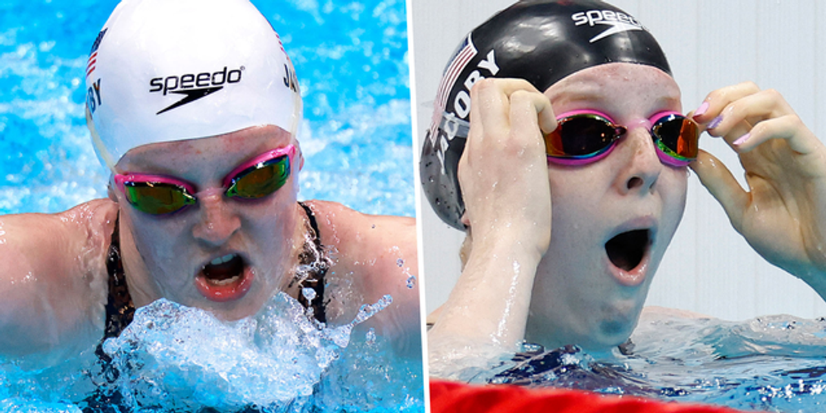17-Year-Old Lydia Jacoby Won Her Gold Medal Wearing Her Pink Childhood Goggles